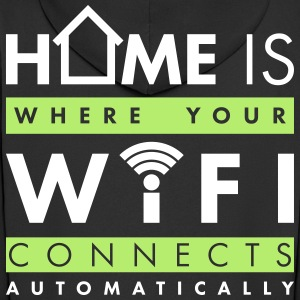 Home is where your wifi connects automatically Pullover & Hoodies - Männer Premium Kapuzenjacke