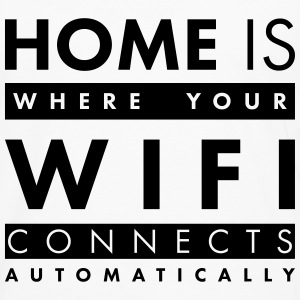 Home is where your wifi connects automatically Langarmshirts - Männer Premium Langarmshirt