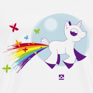 Rainbow unicorn and butterflies - Men's Premium T-Shirt