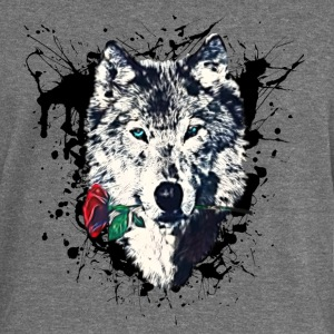 Wolf with Rose, Love Symbol, Loup, Freedom,  Sweat-shirts - Pull Femme col bateau de Bella