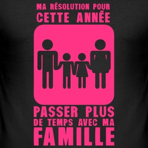 resolution annee plus temps famille Tee shirts - Tee shirt près du corps Homme
