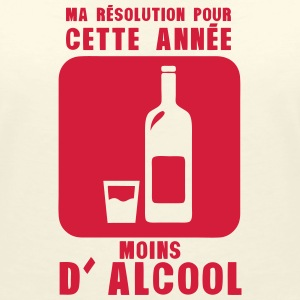 resolution annee moins alcool bouteille Tee shirts - T-shirt col V Femme