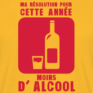 resolution annee moins alcool bouteille Tee shirts - T-shirt Homme