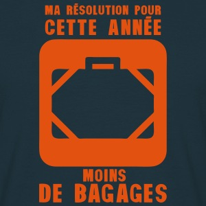 resolution annee moins bagages valise 2 Tee shirts - T-shirt Homme