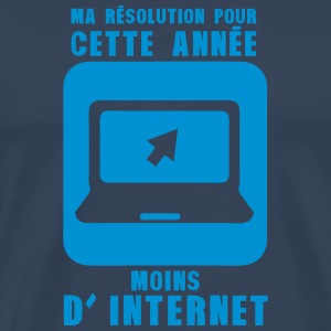resolution annee moins internet ordinate Tee shirts - T-shirt Premium Homme