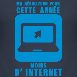resolution annee moins internet ordinate Tee shirts - Tee shirt près du corps Homme