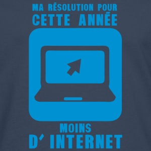 resolution annee moins internet ordinate Manches longues - T-shirt manches longues Premium Homme