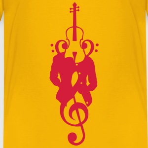 Character violin tailor woman head music Shirts - Kids' Premium T-Shirt