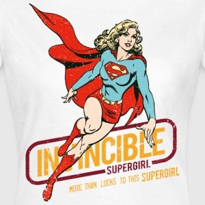 Supergirl Dame T-Shirt Invincible - Dame-T-shirt