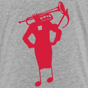 Character trumpet woman head tailor Shirts - Kids' Premium T-Shirt