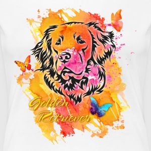 Golden Retriever Spring T-Shirts - Frauen Premium T-Shirt