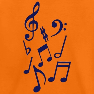 Note music round white key floor 0 Shirts - Kids' Premium T-Shirt