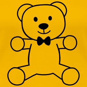 teddy bear with bow tie teddybeer met strikje T-shirts - Vrouwen Premium T-shirt