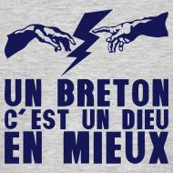 Motif ~ Un breton c'est un DIEU en mieux eclair main