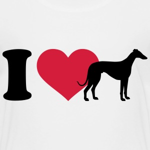 I love Windhund T-Shirts - Kinder Premium T-Shirt