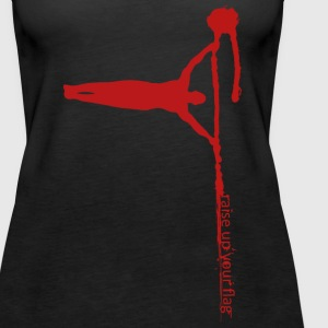 Raise your flag - red* - Frauen Premium Tank Top