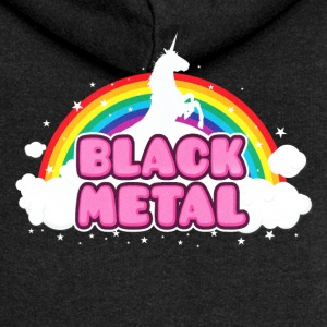 BLACK METAL - Funny / Unicorn - Rainbow - parodie Sweat-shirts - Veste à capuche Premium Femme