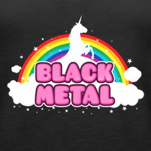 BLACK METAL - Funny / Unicorn - Rainbow - parodie Top - Canotta premium da donna