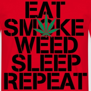 EAT SMOKE WEED SLEEP REPEAT T-shirts - T-shirt herr