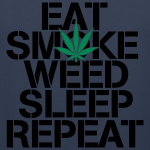 EAT SMOKE WEED SLEEP REPEAT Tanktoppar - Premiumtanktopp herr