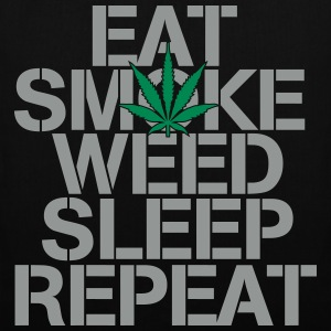 EAT SMOKE WEED SLEEP REPEAT Bags & Backpacks - Tote Bag