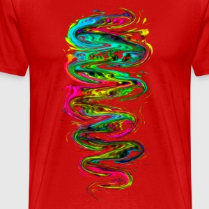 Color your life! Rainbow, Music, Trance, Techno, Goa T-shirts - Herre premium T-shirt