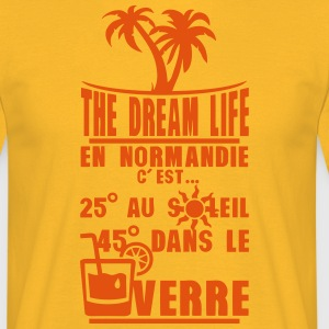 normandie 25 degre soleil 45 verre Tee shirts - T-shirt Homme