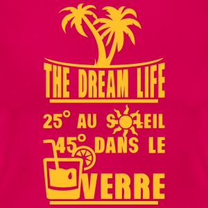 25 degre soleil 45 verre alcool humour Tee shirts - T-shirt Femme