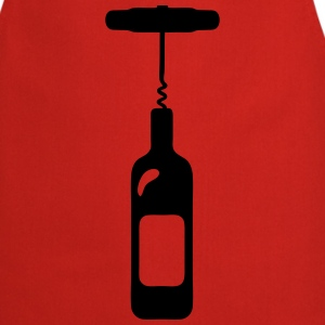 wine bottle Alcohol corkscrew  Aprons - Cooking Apron