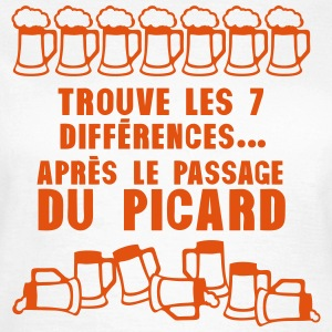 7 difference apres passage picard biere Tee shirts - T-shirt Femme