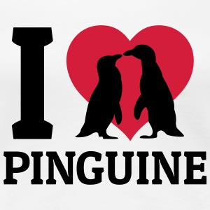 I love Pinguine T-Shirts - Frauen Premium T-Shirt