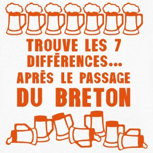 7 difference apres passage breton biere Tee shirts - T-shirt Homme col V