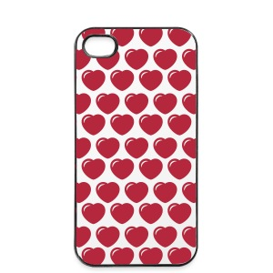 Round hearts case - iPhone 4/4s Hard Case