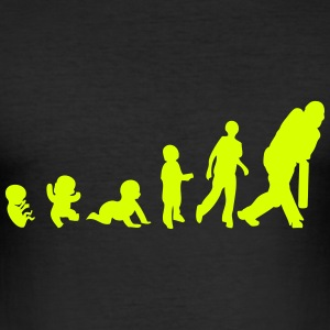 evolution cricket bebe adulte 1303 Tee shirts - Tee shirt près du corps Homme