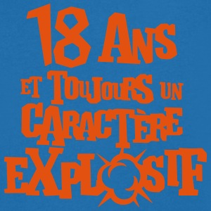 18 ans caractere explosif anniversaire Tee shirts - T-shirt Homme col V