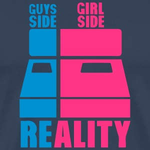 lit cote gars guys gril side reality bed Tee shirts - T-shirt Premium Homme
