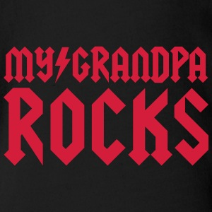My grandpa rocks T-Shirts - Baby Bio-Kurzarm-Body
