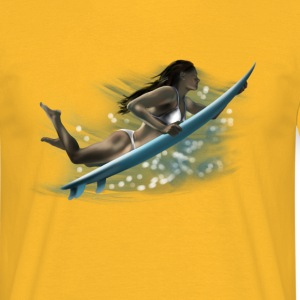 surfing girl T-shirts - T-shirt herr