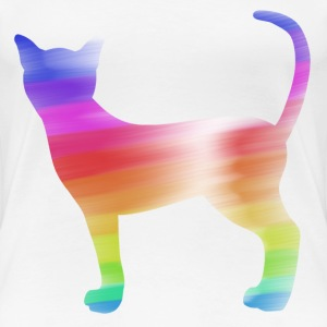 colorful cat T-shirts - Vrouwen Premium T-shirt