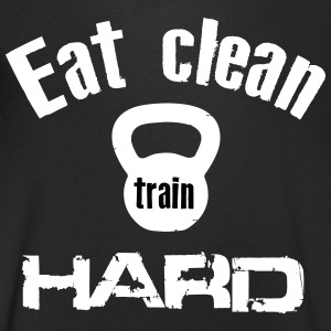 Eat Clean Train Hard - Kettlebell T-Shirts - Men's V-Neck T-Shirt