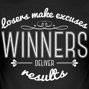 Winners Deliver Results T-Shirts - Men's Slim Fit T-Shirt
