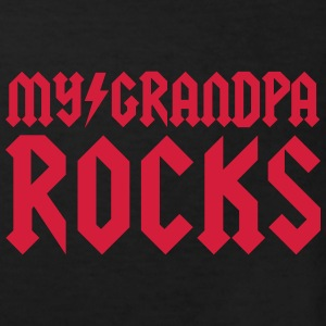 Sort My grandpa rocks T-shirts - Organic børne shirt