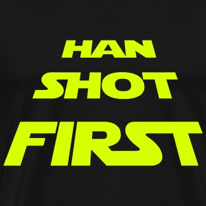 Han shot first - Männer Premium T-Shirt