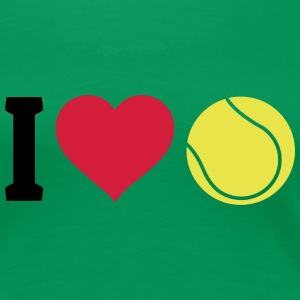 I love tennis T-Shirts - Frauen Premium T-Shirt