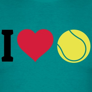 I love tennis jeg elsker tennis T-shirts - Herre-T-shirt