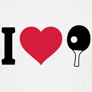 I love table tennis jeg elsker bordtennis T-shirts - Herre-T-shirt