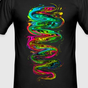 Color your life! Rainbow, Music, Trance, Techno, Goa T-shirts - Slim Fit T-shirt herr