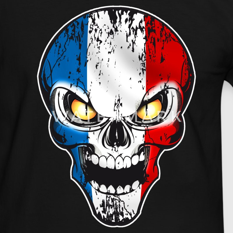Skull France Tee shirts - T-shirt contraste Homme
