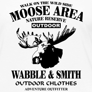 Moose Nature Reserve Long Sleeve Shirts - Women's Premium Longsleeve Shirt