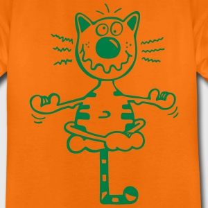 Fitness Katze T-Shirts - Teenager Premium T-Shirt